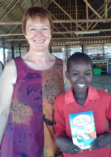 Andrea Mander meets her sponsor  child Anne  resize